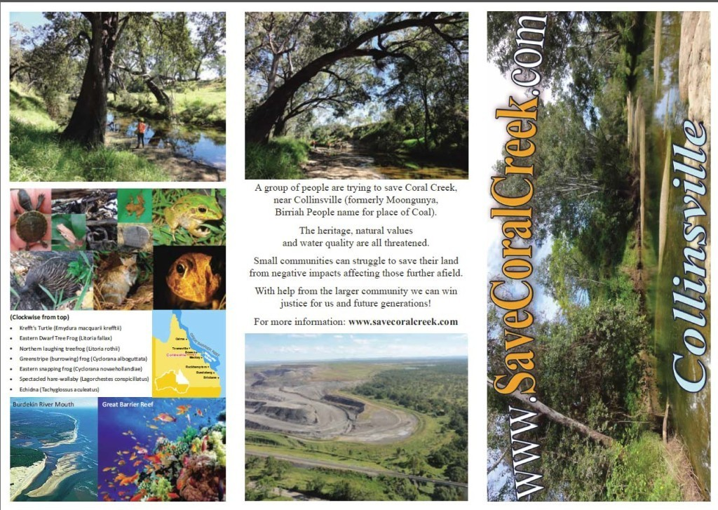Save Coral Creek Brochure 2013